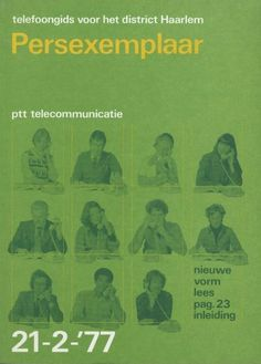 Telefoongids voor district Haarlem Persexemplaar (Telephone for district Haarlem Press Copy), Designed by Jolijn van de Wouw and Wim Crouwel, PTT (Netherlands Post), 1977