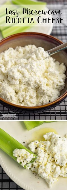 How to Make Ricotta Cheese in the Microwave, in FIVE MINUTES!
