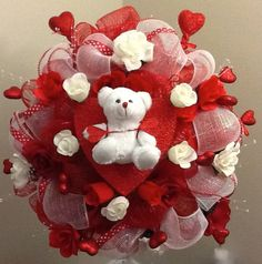 Valentine's Wreath by OnceUponcraftdesigns on Etsy