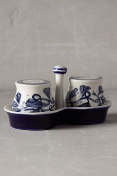 Jardin Des Plantes Salt and Pepper Shakers - anthropologie.eu