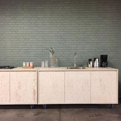 C-More Concept Store Instagram Update Green  Kitchen  Plywood Industrial C-More concept store  Dutchcraftsmen