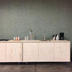 C-More Concept Store Instagram Update Green  Kitchen  Plywood Industrial C-More concept store  Dutchcraftsmen