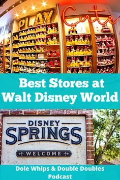 The best stores and shops in all of Walt Disney World, from the parks to the resorts and Disney Springs. Shop in these stores on your next Disney vacation. Disney World Shows, Disney World Guide, Disney World Tips And Tricks, Disney Tips, Disney Hotels, Walt Disney World Vacations, Disney Shopping, Disney Travel, Disney Parks