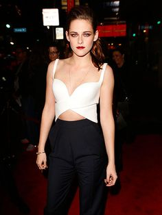 SHOWING SKIN photo | Kristen Kristen Stewart brings the drama to the red carpet in a revealing outfit at the premiere of her movie On the Road as part of the 2012 AFI Fest in Hollywood on Saturday