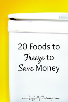 20 Foods to Freeze to Save Money - Freezers are a great source of savings! Here is a good list of some of the best foods to freeze to help you save money.