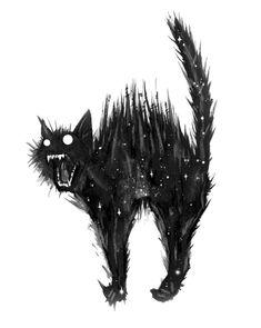 Tattoo Gato, Desenho Tattoo, Arte Horror, Horror Art, Ink Illustrations, Illustration Art, Black Cat Tattoos, Creepy Cat, Black Cat Art