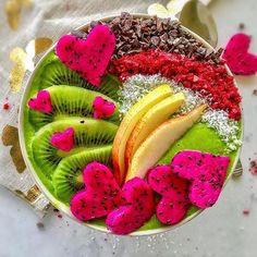 1 Cup kale 2 celery sticks 1 frozen banana 1 orange 1 pear Handful of almonds Coin size ginger 2 cups of water On top I have sprinkled cacao nibs, coconut chips and raspberry powder from Smoothie Recipes For Kids, Raw Juice, Healthy Green Smoothies, Rainbow Food, Good Morning Everyone, Breakfast Bowls, Frozen Banana, Smoothie Bowl, Dairy Free Recipes