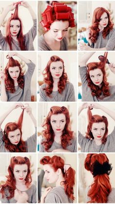 Rockabilly hair!! Totally trying this!