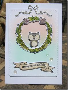 card using Mama Elephant Charmed set and dies