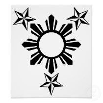 philippine sun tattoo love pinterest philippines tattoo and rh pinterest com Filipino Flag Star filipino flag tattoos pictures