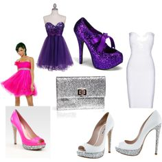 Glitter shoes. Couldn't quite get the purple dress right