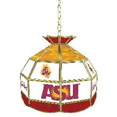Arizona State University Stained Glass 16 Inch Tiffany Lamp