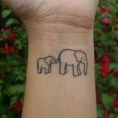 "My most recent tattoo. Represents ""like mother like daughter"" with her love of elephants. #elephant #tatt #tattoo #newtatt #tatt3 #mother #mum #daughter #perfect #lovethis"