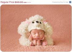 Sale 20 Off OOAK Poodle hat and legwarmer creation by garysangel, $40.00