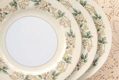 Mid Century Noritake Dinner Plates Set of 3 by RosebudsOriginals