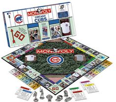 - NFL officially licensed! - Ages 8 & up! - Collectors Edition! - Limited supplies! When the guests are over pull out this limited edition Chicago Cubs Monopoly game and start loading the board. Hit a