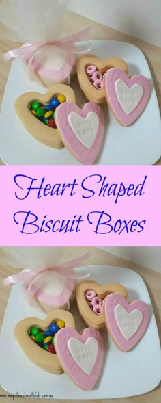 Mother's Day Heart Shaped Biscuit Cookie Boxes | Heart Shaped Biscuit Boxes | These would be great for Mother's Day, Birthday's, Valentine's Day, Engagement Party Favours, Wedding Party Favours, Father's Day… the list goes on really. | http://magnificentmouthfuls.com.au/2018/04/17/heart-shaped-biscuit-boxes/
