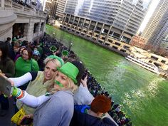 Watch the Chicago River Go Green for St. Patrick's Day (VIDEO) http://www.people.com/article/chicago-river-green-dye-st-patricks-day