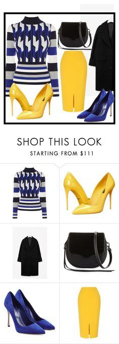 """Geo Knit Jumper"" by rosidew ❤ liked on Polyvore featuring Karen Millen, Dolce&Gabbana, Rebecca Minkoff, Sergio Rossi and L.K.Bennett"