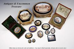 Antique micromosaics, jewelry and jewelry boxes, 19th century.