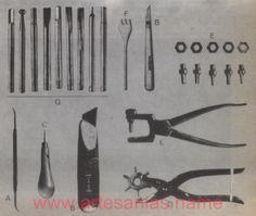 herramientas artesanias en cuero Herramientas para el trabajo en cuero