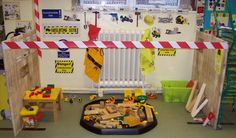 construction zone dramatic play area...this is great!