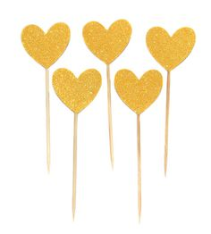 Heart cupcake toppers food picks