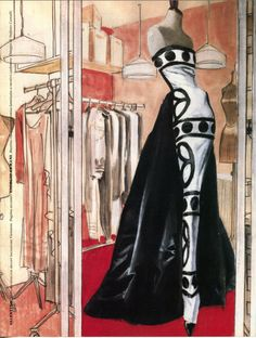 Valentino frock illustrated by Stefano Canulli for Vanity Magazine Inspiring! Fashion Prints, Fashion Art, Illustration Mode, Pattern Illustrations, Fashion Illustrations, Beautiful Sketches, Fashion Figures, Mode Chic, Fashion Design Sketches