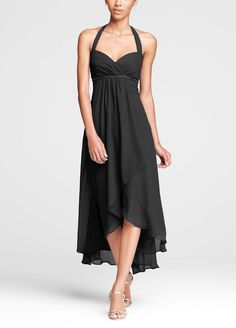If I do all the girls in the same dress, it will be this one in clover green   David's Bridal   $149