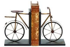 Metal Bicycle Bookends for the cycling enthusiast.