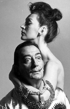 Gala et Dali by Richard Avedon, 1963