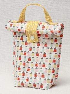 Sac Lunch, Lunch Box, Sewing Online, Diy Sac, Fabric Bags, Sewing Accessories, Sewing Tutorials, Sewing Projects, Fabric Crafts