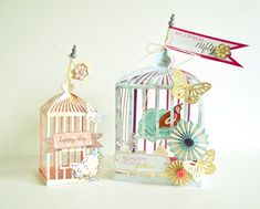 Amazing paper bird cages by @Jenny Chesnick