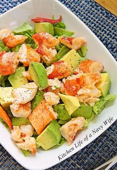 The Kitchen Life of a Navy Wife: Lobster Avocado Salad........I would be the only one in my house to eat this but don't care!