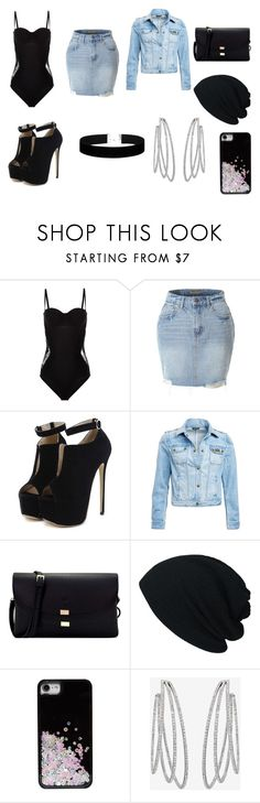 """Untitled #884"" by madalena-volturi ❤ liked on Polyvore featuring La Perla, LE3NO, WithChic, Barbour International, Skinnydip, Messika and Lulu in the Sky"
