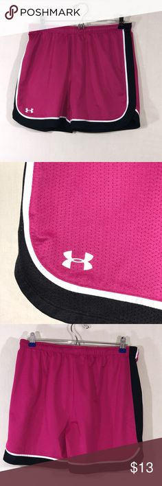 Under Armour Heat Gear Mesh Running Shorts In Excellent Condition! Size Small Womens Under Armour Heat Gear Running Shorts. Elastic Drawstring Waistband  (B15) Under Armour Shorts