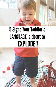Are you concerned that your toddler isn't saying much? Here are five signs that your toddler's language is about to explode!