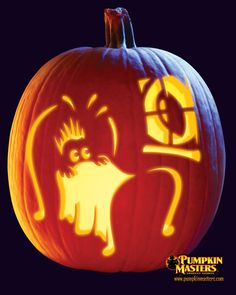 """""""Afraid of the Dark?"""" from Pumpkin Masters.  Check this one and other free patterns out on our website: http://www.pumpkinmasters.com/free-patterns.asp"""