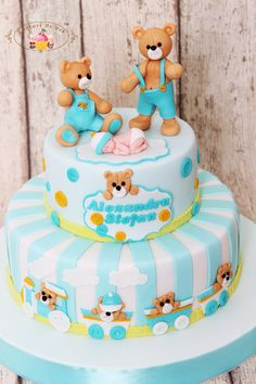 Babyshower, Twins Cake, Polymer Clay Crafts, Baby Shower Cakes, Birthday Cake, Candy, Desserts, Food, Ms