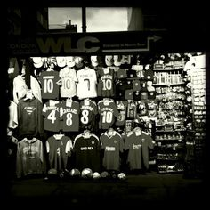 For English Premier League Fans, you can find their club's uniform along Oxford St, London