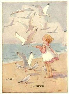 Margaret Tarrant (English illustrator, 1888-1959)- Seagulls by aerily