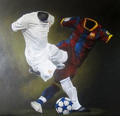 "El Clasico, 2011 | Acrylic on Wood Panel | 48"" x 48"""