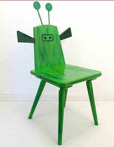 Regal wanddekoration halber stuhl holz upcycling von for Stuhl upcycling