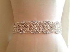 94ad040834 Wedding Dress Bridal Sash Belt - Crystal Pearl Wedding Sash Belt 17 1 2