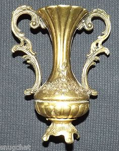 Ornate brass vase with double handles--made in Italy!