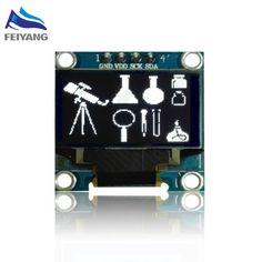 """Wit kleur 128X64 OLED LCD LED Display Module Voor Arduino 0.96 """"I2C IIC 4pin Seriële nieuwe originele 1"""