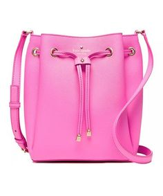 Another great find on #zulily! Tulip Pink Harriet Leather Bucket Bag #zulilyfinds