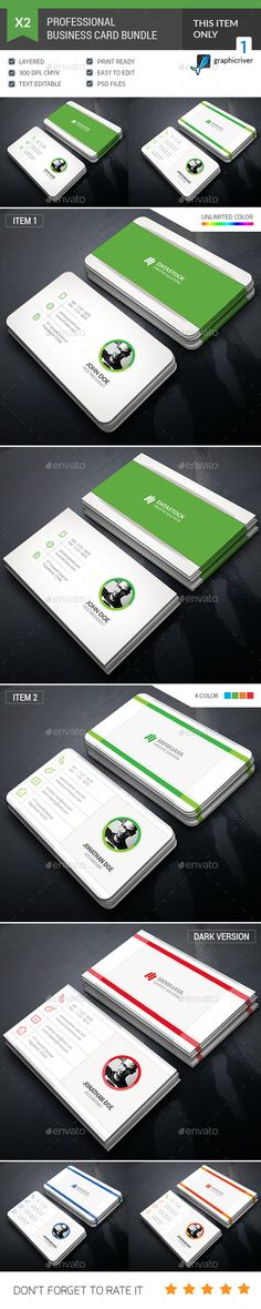 Business Card Bundle - Corporate Business Cards Download here : https://graphicriver.net/item/business-card-bundle/20120776?s_rank=6&ref=Al-fatih #business card template #business card #business #card #design #psd #template #premium design