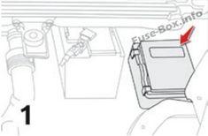 Instrument panel fuse box #1 diagram (Type 1): Citroen C4