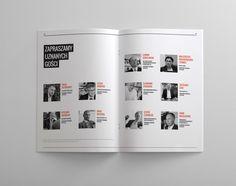 pl / print design by Filip Ko, via Behance Newspaper Design Layout, Book Design Layout, Print Layout, Album Design, Editorial Layout, Editorial Design, Print Design, Logo Design, Portfolio Book